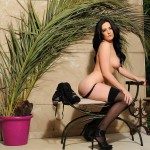 Becky Hey Gets Naked From Her Bodysuit And Plays With Stockings - 23