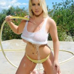 Lyla Ashby Playing With The Hose Getting Her Self Soaking Wet - 10