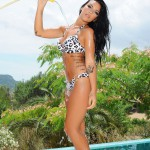 Sam Grierson Strips Nude From Her Bikini As She Gets Wet By The Pool - 0