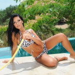 Sam Grierson Strips Nude From Her Bikini As She Gets Wet By The Pool - 6