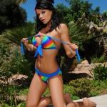 Sasha Cane – Sasha Looks Cute As She Peels Off Her Bikini - 12