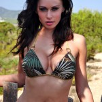 Clare Richards – Green Bikini - 0
