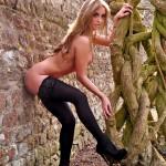 Dionne Daniels Pink Lingerie Black Stockings - 19