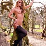 Dionne Daniels Pink Lingerie Black Stockings - 22