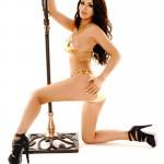 Gemma Massey – Golden Bikini - 3