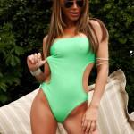 Gemma Massey – Green Swimsuit - 0