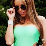 Gemma Massey – Green Swimsuit - 2