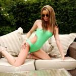 Gemma Massey – Green Swimsuit - 4