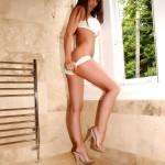 Gemma Massey – White Bikini - 1