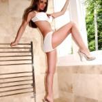Gemma Massey – White Bikini - 2