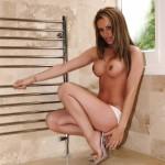Gemma Massey – White Bikini - 9