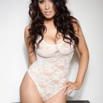 Kelly Andrews Strips From Her White Bodysuit - 0