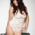 Kelly Andrews Strips From Her White Bodysuit - 1