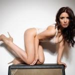 Kelly Andrews Strips From Her White Bodysuit - 7