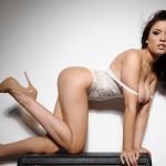Kelly Andrews Strips From Her White Bodysuit - 14