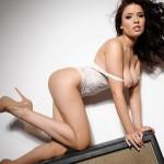 Kelly Andrews Strips From Her White Bodysuit - 15