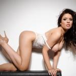 Kelly Andrews Strips From Her White Bodysuit - 16