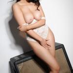 Kelly Andrews Strips From Her White Bodysuit - 22