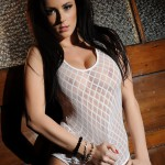 Lauren Wood – White Bodysuit - 1