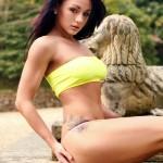 Mica Martinez – Yellow Top Pink Panties - 2