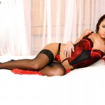 Mica Martinez Black And Red Lingerie - 0
