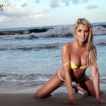 Rachel Louise – Yellow Bikini - 4