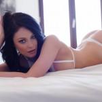 Sam Kellett – Sexy White Lingerie On My Bed - 2