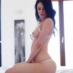 Sam Kellett – Sexy White Lingerie On My Bed - 6