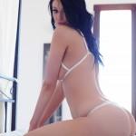 Sam Kellett – Sexy White Lingerie On My Bed - 7