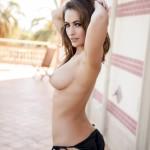 Anastasia Harris – Golden Striped Bikini - 16