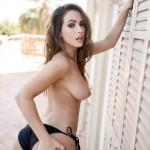 Anastasia Harris – Golden Striped Bikini - 22
