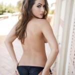 Anastasia Harris – Golden Striped Bikini - 23