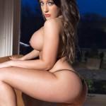 Ashley Emma – Black Thong - 13
