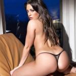 Ashley Emma – Black Thong - 18