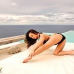 Caty Cole – Black Bikini - 7