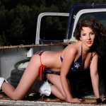 Leila White Stripping Out Of Her Usa Swim Wear On The Truck - 11