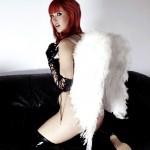 Sophia Knight – Red Hair Black Latex - 0