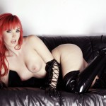 Sophia Knight – Red Hair Black Latex - 7