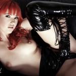 Sophia Knight – Red Hair Black Latex - 8