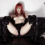 Sophia Knight – Red Hair Black Latex - 12