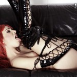 Sophia Knight – Red Hair Black Latex - 17