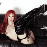 Sophia Knight – Red Hair Black Latex - 18