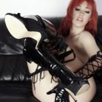 Sophia Knight – Red Hair Black Latex - 19