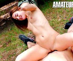AmateurEuro – Sexy Teen Lullu Gun Hot Sex Through The Woods