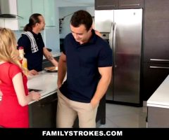 Angel Smalls – Stepsister And Brother Can't Keep Their Hands Off Each Other At Thanksgiving Dinner