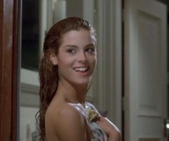 Betsy Russell With A Well-placed Towel