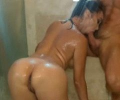 Blowjob in the shower