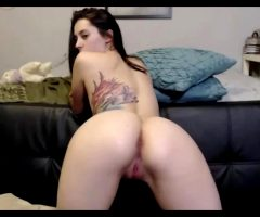 Cute Camgirl Isobella07 Showing Off Her Ass And Winking Her Butthole