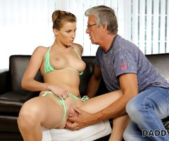 DADDY4K. Boy catches classy GF cheating on him with his stepdad