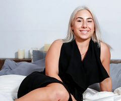 First Time Audition Fuck with Canadian Blonde Teen